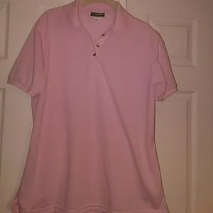 Women's Collared Pink Polo Top